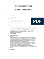 Town of Clifton Park agenda July 6, 2009