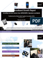 GSA Mobile Broadband Growth Report Feb 2011