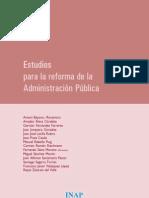 ESTUDIOS PARA LA REFORMA DE LA ADMINISTRACIÓN PÚBLICA