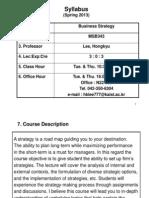 13strategy(ÇĐºÎ)syllabus