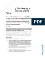Maintaining Bim Integrity in Structural Engineering Office