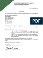 Asahi - Letter of Agency (ERIKS Malaysia Sep 2013)