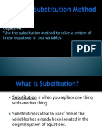 3 8 the substitution method