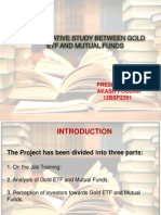 gold and mutual fund study