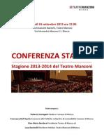 Presentazione Manzoni 13-14