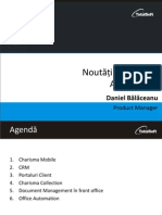 Noutati in Charisma Business Applications 2013