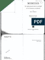 191. Erich Auerbach Mimesis La Representacion de La Realidad en La Literatura Occidental Seccion de Lengua y Estudios Literarios 1996