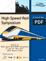 Final Version of Report for HSR Symposium