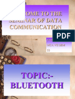 Welcome to the Seminar of Data Communication
