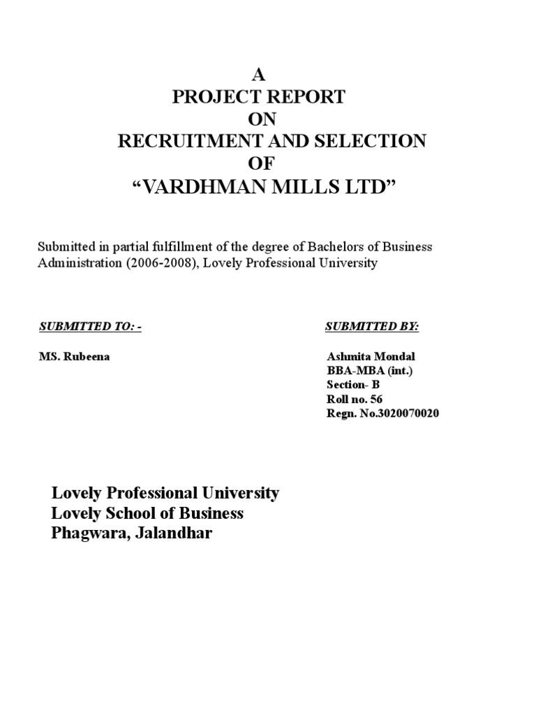 Vardhman   Recruitment   Yarn