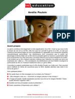 AMELIE/LE FABULEUX DESTIN D'AMÉLIE POULAIN -  Study  Guide in French