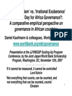 A comparative empirical perspective on governance in African countries
