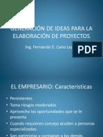 Generacion de Ideas Para Proyectos