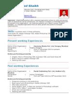 Zahid's Resume