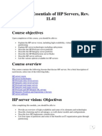 Technical Essentials of HP Servers, Rev. 11.41