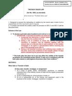 The Bulk Sales Law