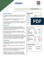 WealthRays - Markets @ Sep 26 2013
