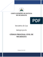 Anteproyecto Codigo Procesal Civil de Nicaragua