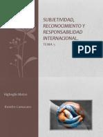Subjetividad, Reconocimiento y Responsabilidad Internacional