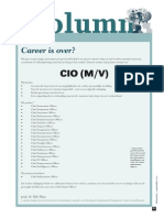 Career Is Over?