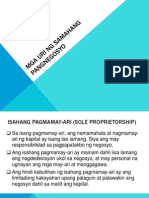 Mga Uri Ng Samahang Pangnegosyo