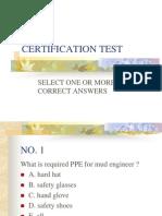 10 Certification Test