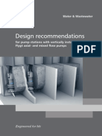 Flygt Design Recommendations for Axial and Mixed Flow Pumps