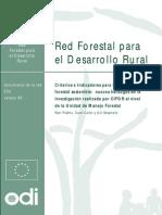 Criterios e Indicadores Manejo Forestal
