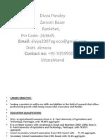CV divya.pptx