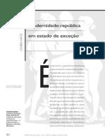 Modernidade - república em Estado de exceção - Olgária matos