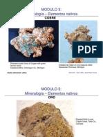 Mineralogia Elementos Nativos3,2