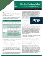 Evergreen Rehab Compliance Bulletin 2013 Q4