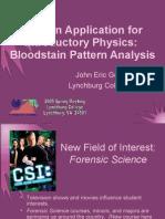 Bloodstain Pattern Analysis (CS-AAPT)