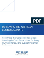 IMPROVING THE AMERICAN BUSINESS CLIMATE: REFORMING THE CORPORATE TAX CODE, INVESTING IN OUR INFRASTRUCTURE, TRAINING OUR WORKFORCE, AND SUPPORTING SMALL BUSINESSES