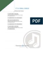 It's a Small World Lyrics