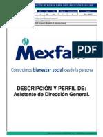 DFA-RH032 Descripcion de Puesto Asistente de Direccion General