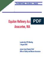 EquilonRefineryAccidentAnacortes,WA 2005-08-01