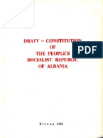 Draft Constitution of the People's Socialist Republic of Albania