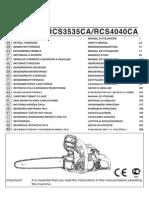 Manual Motoserra Ryobi RCS4040CA