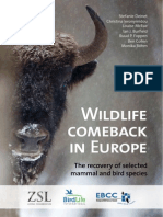 WILDLIFE COMEBACK IN EUROPE The recovery of selected mammal and bird species