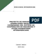 1proyecto de Manual de Operaciones Navales Combinadas