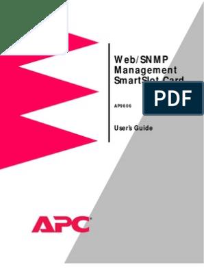 Title Page: Web/Snmp Management Smartslot Card