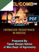 herbicide resistance in weeds