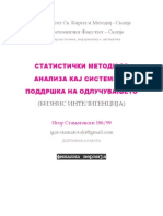 Statistical methods for analysis in decision support systems - Business Inteligence