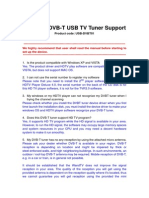 WandTV DVBT USB Tuner Product Support