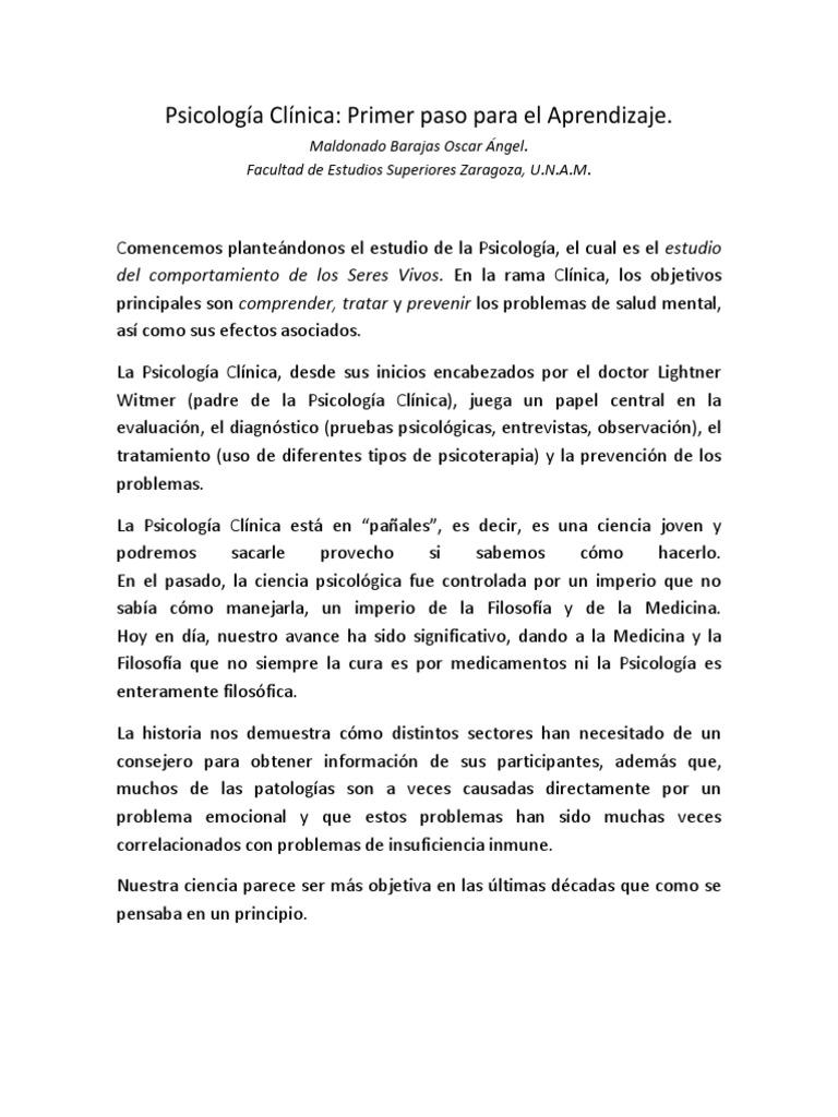 1. Marco Teórico - Psicología Clínica (1-5)