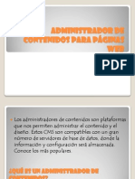 Administrador de contenidos para páginas web ximena