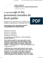 Arbitrage Et La Personne Morale Publique