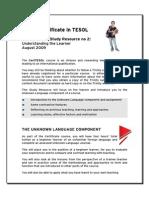 Understanding the Learner - Trinity CertTESOL