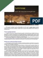 Poluição luminosa o desperdício inútil de recursos energéticos